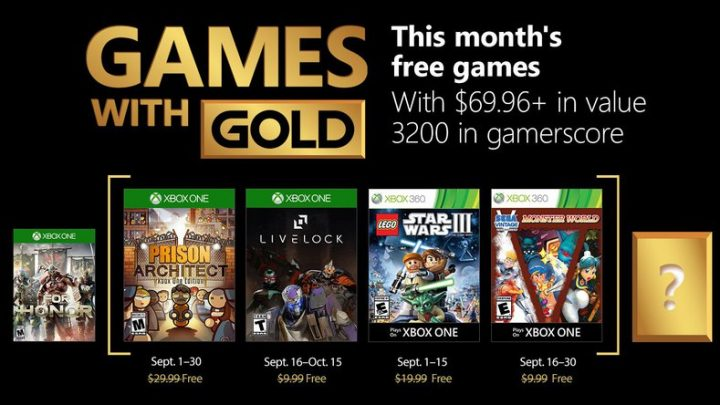 Les jeux Games with Gold de Septembre 2018 !