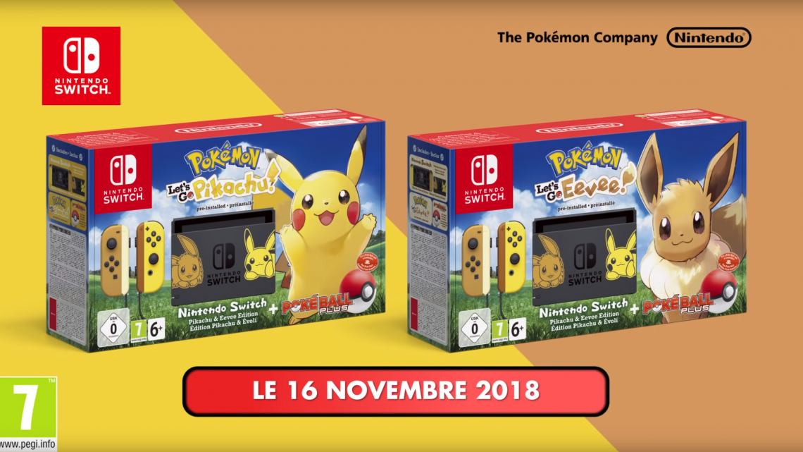 Pokemon let's go : les bundles arrivent !