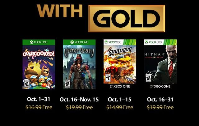 Les jeux Games with Gold d'Octobre 2018 !
