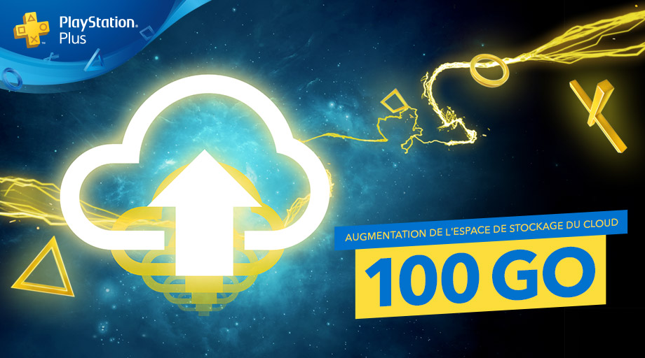 PS Plus – Stockage du cloud passe de 10 à 100Go !